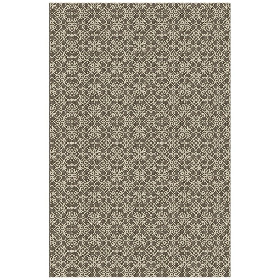 Dark Grey and White Rectangular Indoor Woven Area Rug (Common: 5 x 7; Actual: 58-in W x 88-in L)