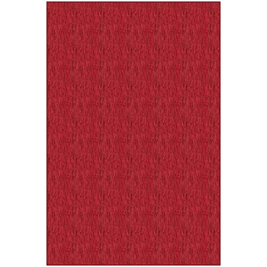 Red Rectangular Indoor Woven Area Rug (Common: 5 x 7; Actual: 4.83-ft W x 7.33-ft L)