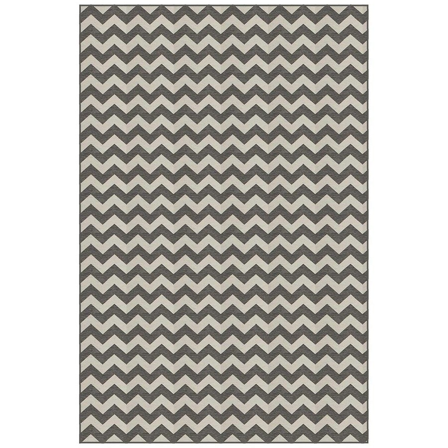 Dark Grey and White Rectangular Indoor Woven Area Rug (Common: 5 x 7; Actual: 4.83-ft W x 7.33-ft L)