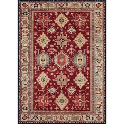 Washable Ruby Rectangular Indoor Outdoor Machine Made Oriental Area Rug Common 5 X 7 Actual Ft W L