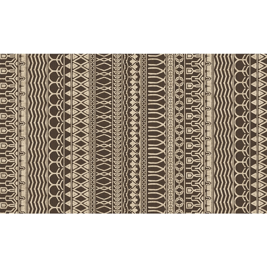 Ruggable Washable Brown Espresso Rectangular Indoor/Outdoor Machine-Made Distressed Throw Rug (Common: 3 x 5; Actual: 5-ft W x 3-ft L x 0-ft Dia)