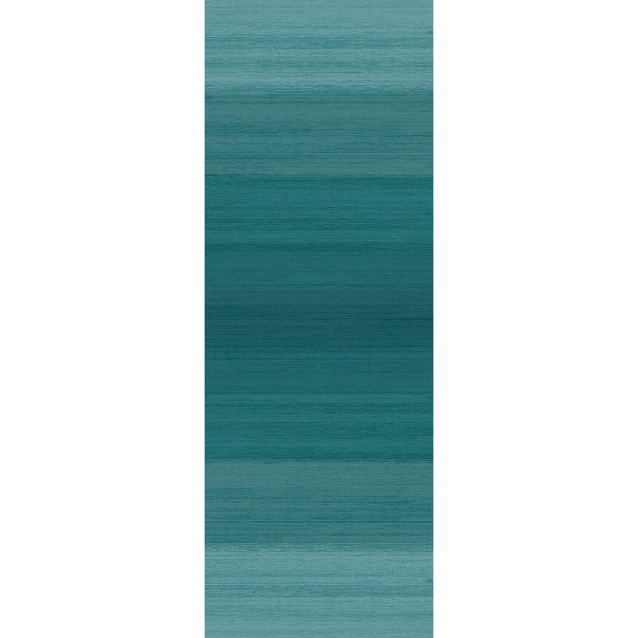 Ruggable Washable Blue Rectangular Indoor/Outdoor Machine-Made Coastal Runner (Common: 2 x 7; Actual: 7-ft W x 2.5-ft L x 0-ft Dia)
