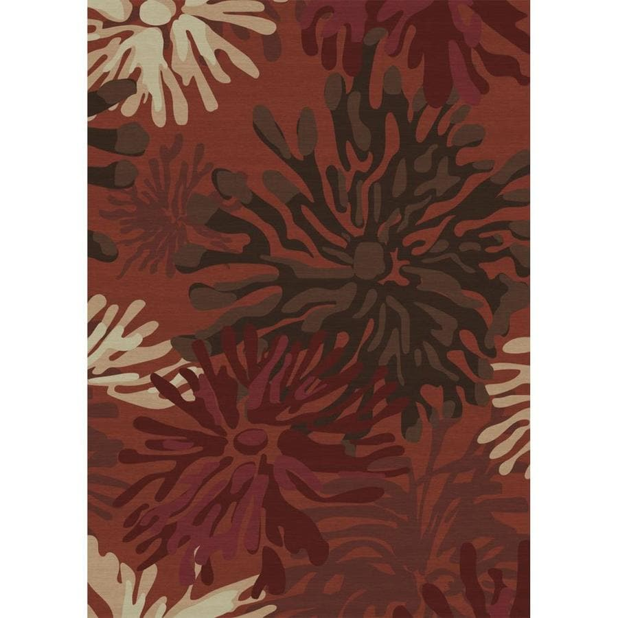 Washable Throw Rugs On Sale: Ruggable Washable Red Indoor/Outdoor Handcrafted Coastal