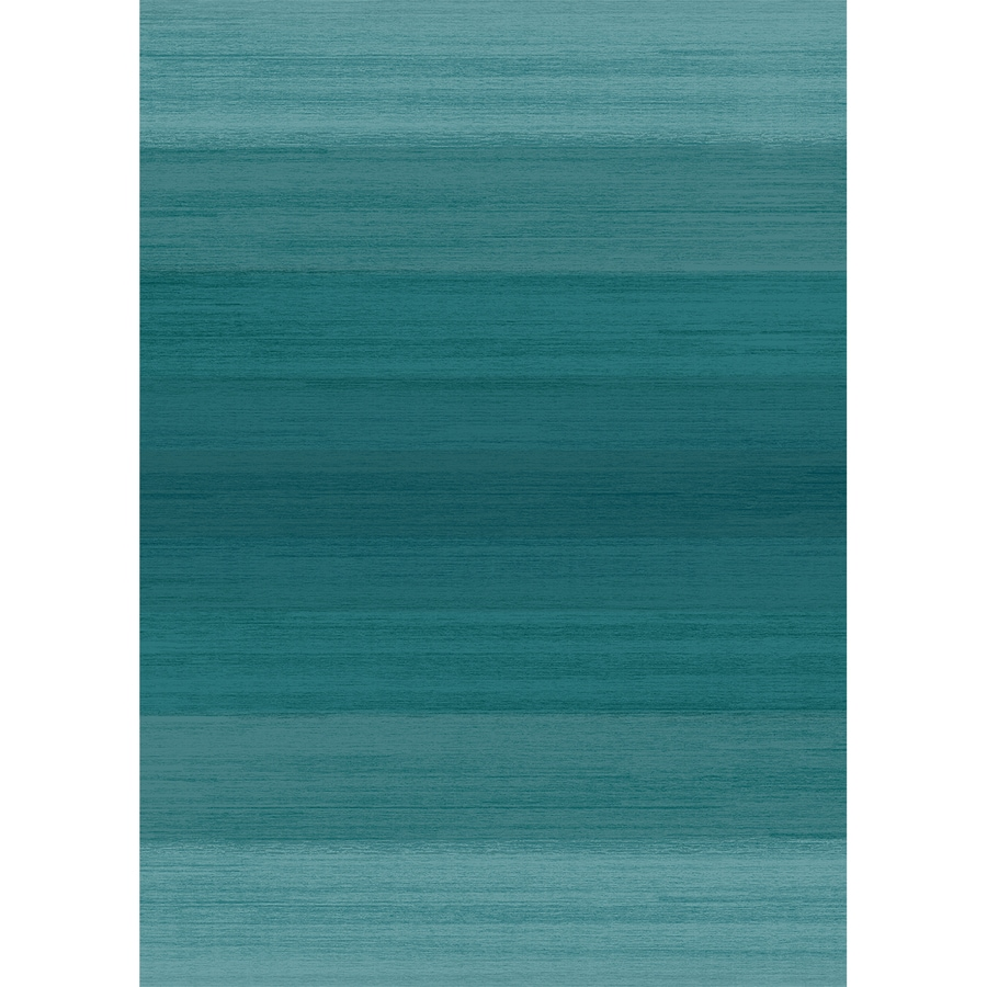 Ruggable Washable Blue Rectangular Indoor/Outdoor Machine-Made Coastal Area Rug (Common: 5 x 7; Actual: 7-ft W x 5-ft L x 0-ft Dia)