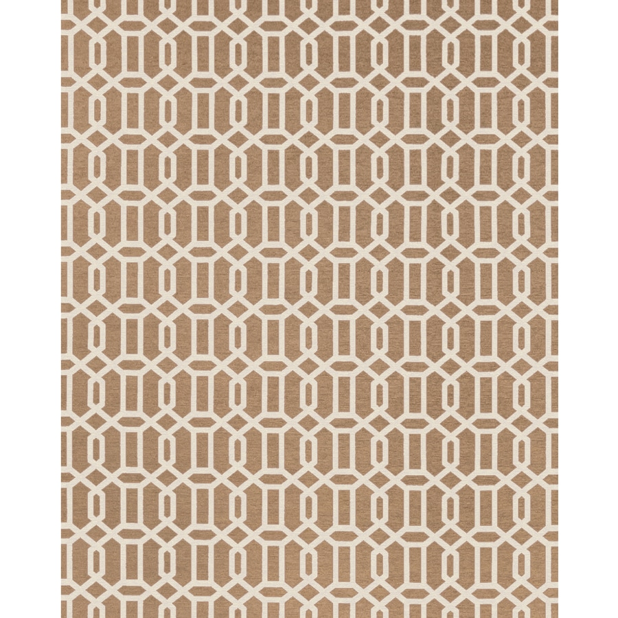 Ruggable Washable Rich Tan and Off-White Rectangular Indoor/Outdoor Machine-Made Moroccan Area Rug (Common: 8 x 10; Actual: 10-ft W x 8-ft L x 0-ft Dia)