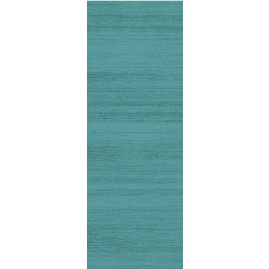 Ruggable Washable Blue Rectangular Indoor/Outdoor Machine-made Coastal Runner (Common: 2 X 7; Actual: 7-ft W x 2.5-ft L)