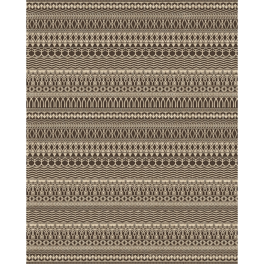 8x10 Indoor Outdoor Area Rugs: Shop Ruggable Washable Brown Espresso Indoor/Outdoor