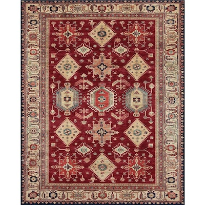 Washable Ruby Rectangular Indoor Outdoor Machine Made Oriental Area Rug Common 8 X 10 Actual Ft W L