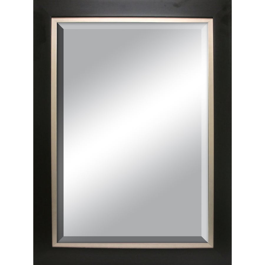 allen + roth Espresso Rectangle Framed Wall Mirror