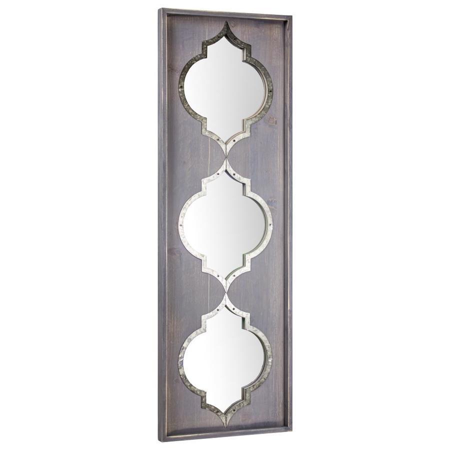 36 5 In L X 12 25 W Purple Framed Wall Mirror