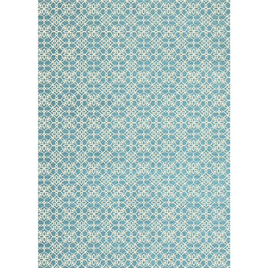 Ruggable Washable Aqua Blue Indoor Outdoor Coastal Area