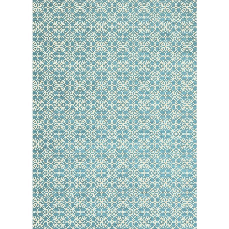 Ruggable Washable Aqua Blue Rectangular Indoor/Outdoor Machine-Made Coastal Area Rug (Common: 5 x 7; Actual: 7-ft W x 5-ft L x 0-ft Dia)