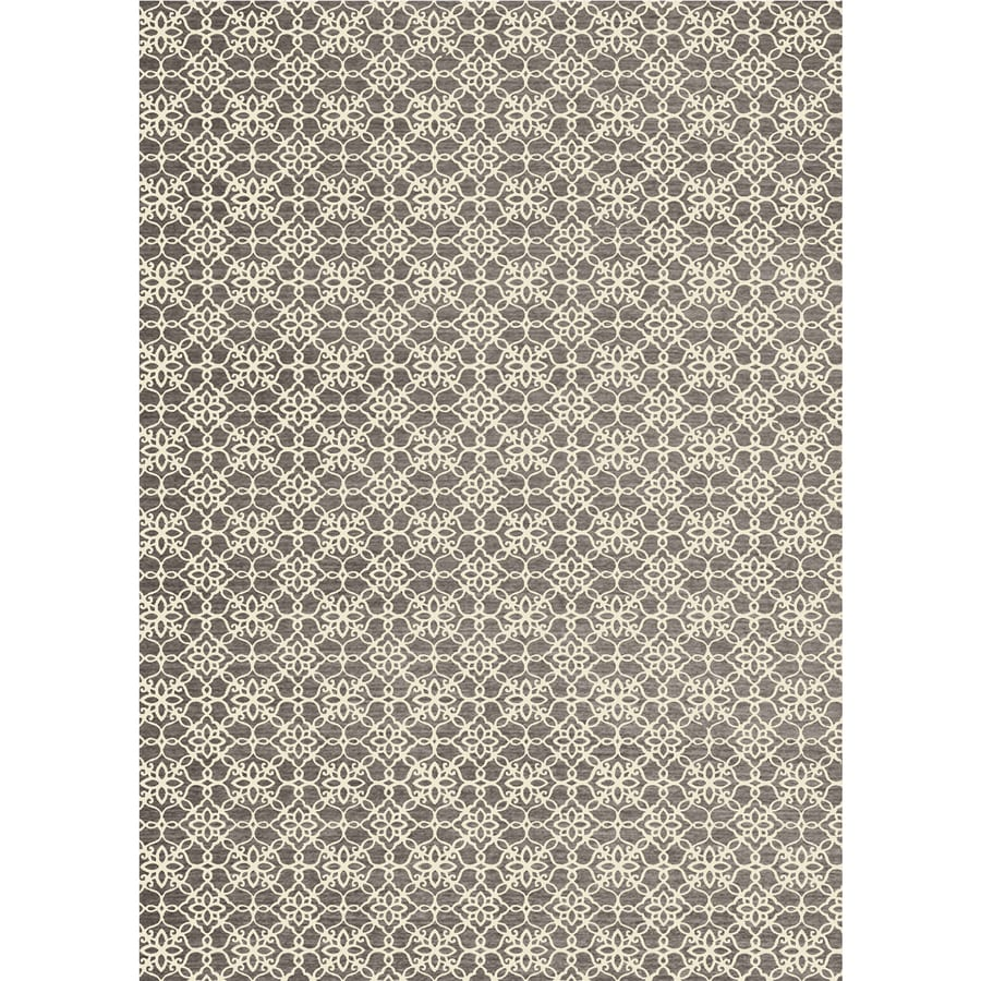 Ruggable Washable Rich Grey Rectangular Indoor/Outdoor Machine-Made Coastal Area Rug (Common: 5 x 7; Actual: 7-ft W x 5-ft L x 0-ft Dia)