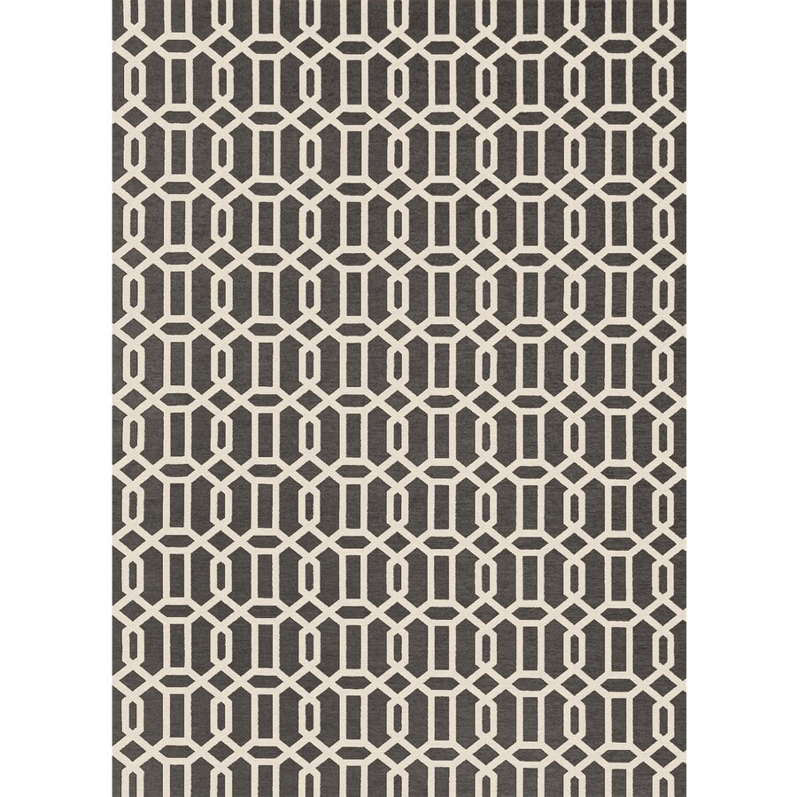 Ruggable Washable Rich Grey Rectangular Indoor/Outdoor Machine-Made Moroccan Area Rug (Common: 5 x 7; Actual: 7-ft W x 5-ft L x 0-ft Dia)