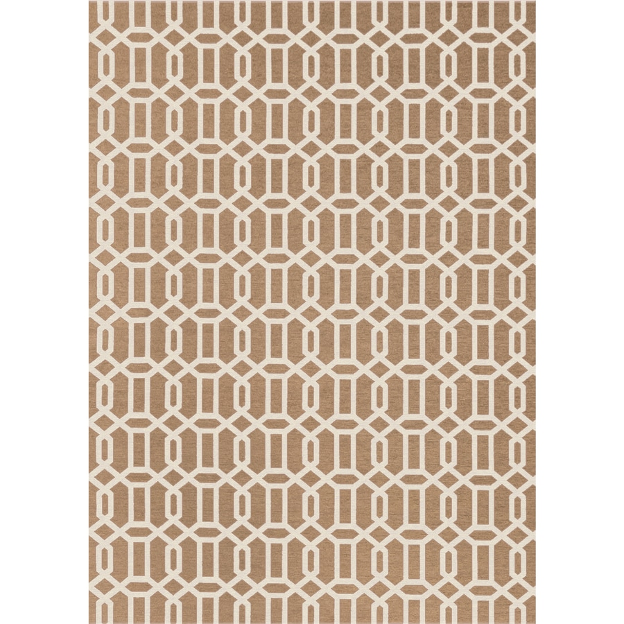 Ruggable Washable Rich Tan and Off-White Rectangular Indoor/Outdoor Machine-Made Moroccan Area Rug (Common: 5 x 7; Actual: 7-ft W x 5-ft L x 0-ft Dia)