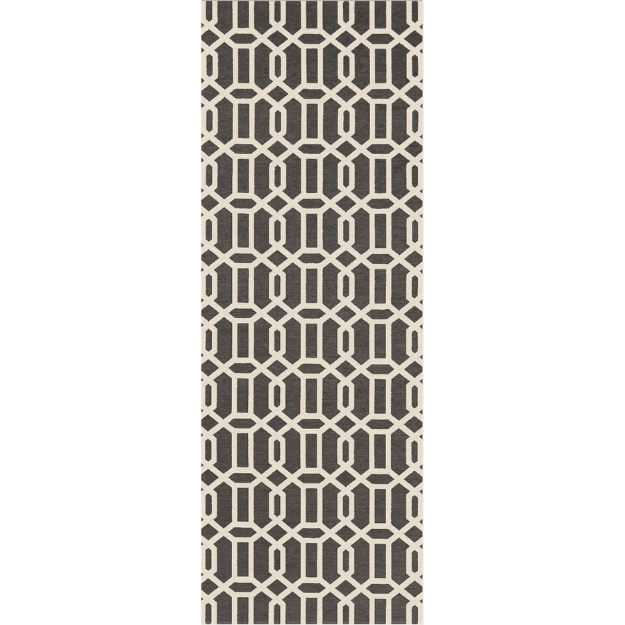 Ruggable Washable Rich Grey Rectangular Indoor/Outdoor Machine-Made Moroccan Runner (Common: 2 x 7; Actual: 7-ft W x 2.5-ft L x 0-ft Dia)