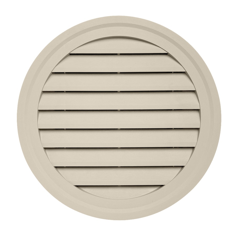 Durabuilt 22-in x 22-in Tan Round Plastic Gable Vent