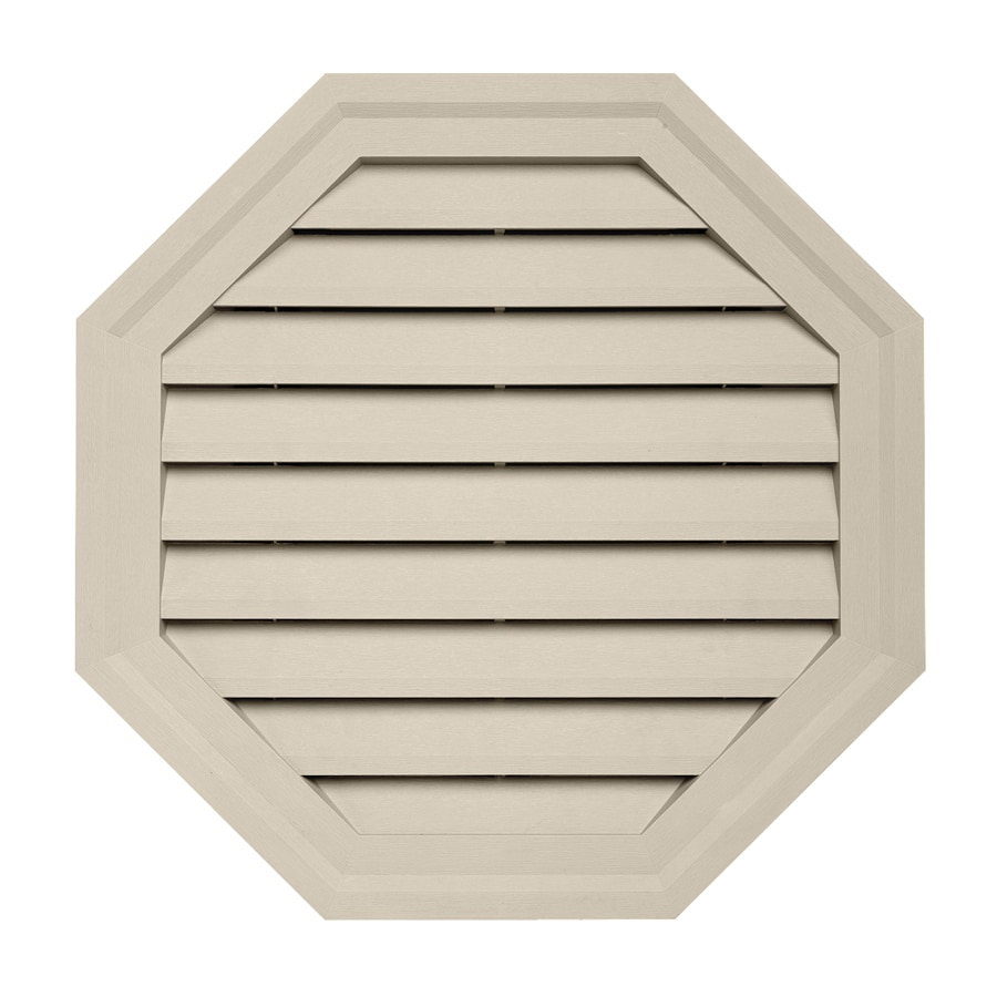 Durabuilt 10.5-in x 15-in Tan Octagon Plastic Gable Vent
