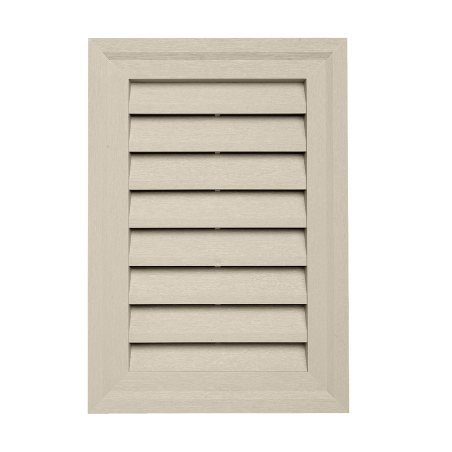 Durabuilt 14-in x 20-in Tan Rectangle Plastic Gable Vent