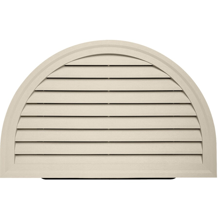 18-in x 20-in Tan Half Round Vinyl Gable Vent