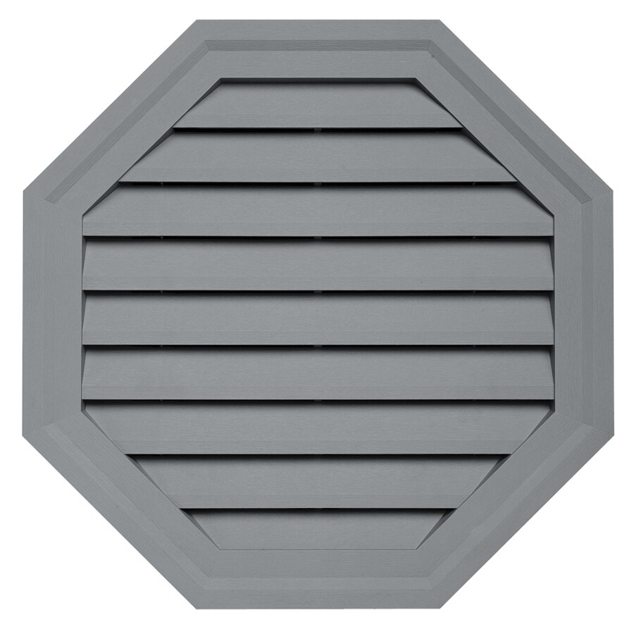 Durabuilt 22-in x 22-in Wedgwood/Pebble Octagon Plastic Gable Vent