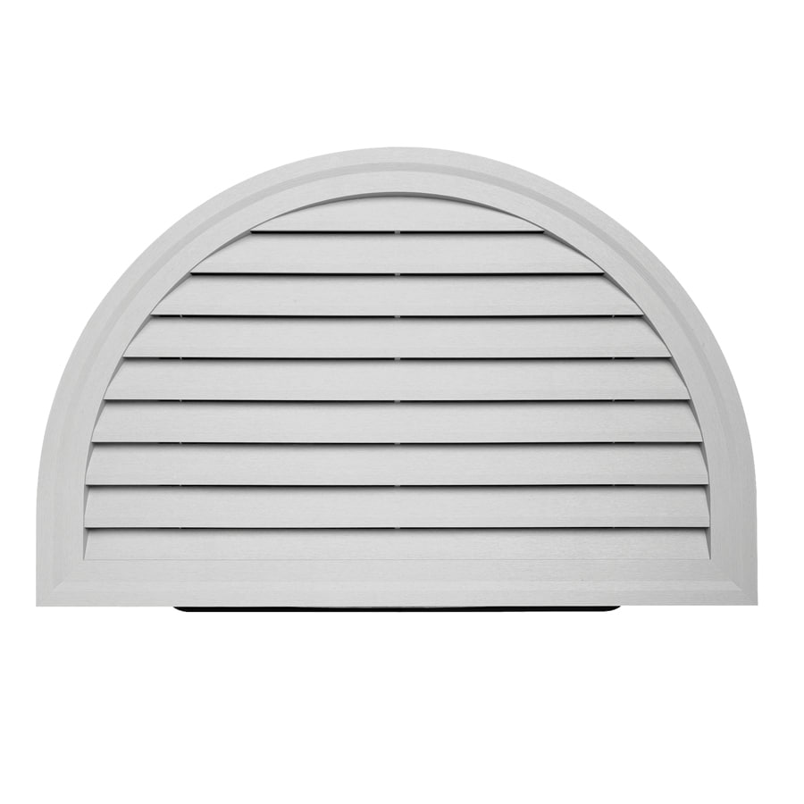 22-in x 34-in Gray Half Round Vinyl Gable Vent