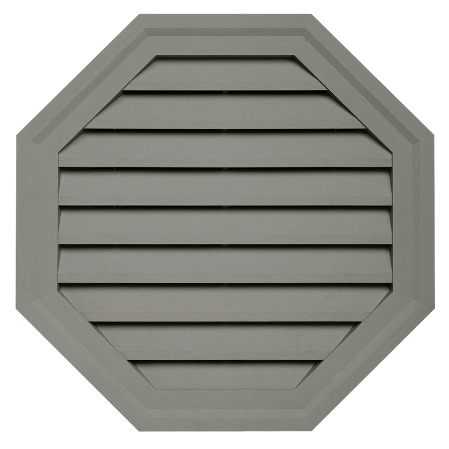 Durabuilt 10.5-in x 15-in Sagebrook/Pebble Octagon Plastic Gable Vent