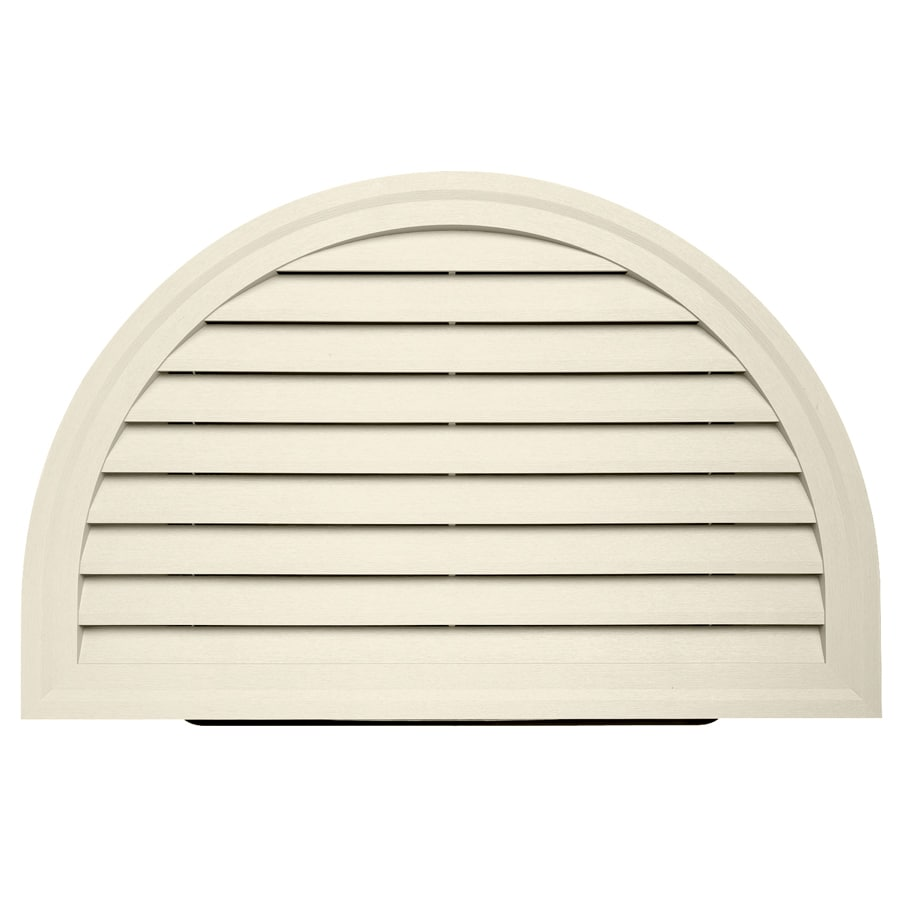 Durabuilt 14-in x 22-in Cream/Pebble Round Plastic Gable Vent