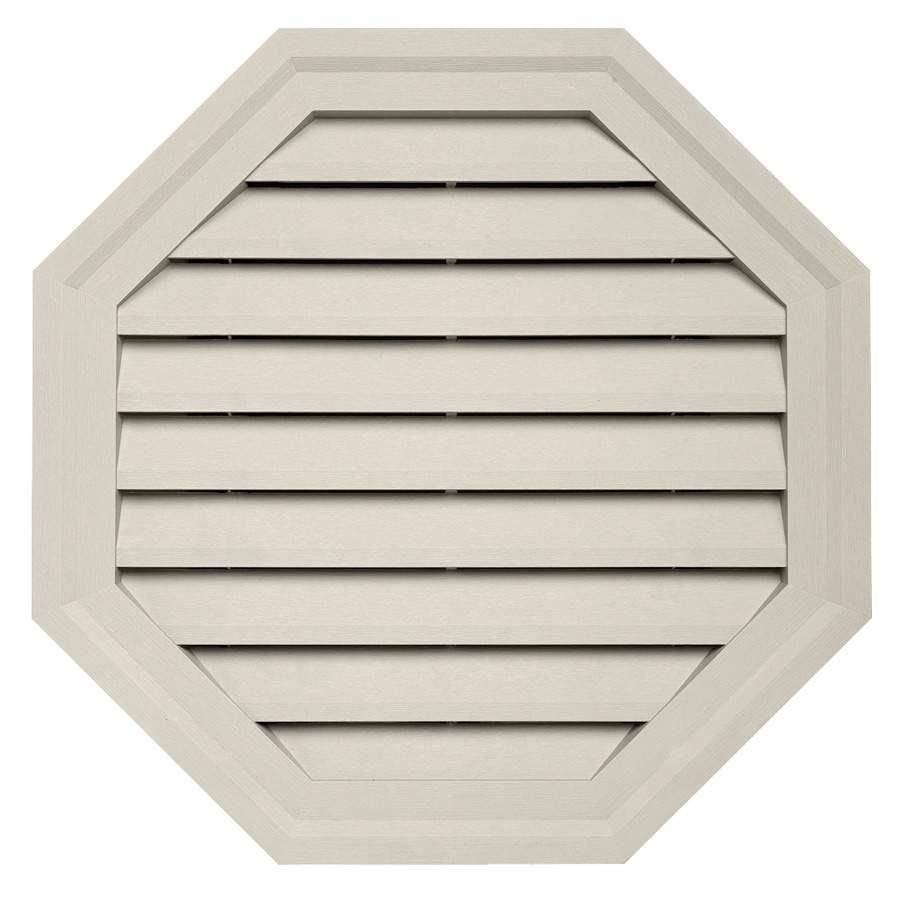 Durabuilt 10.5-in x 15-in Almond/Pebble Octagon Plastic Gable Vent