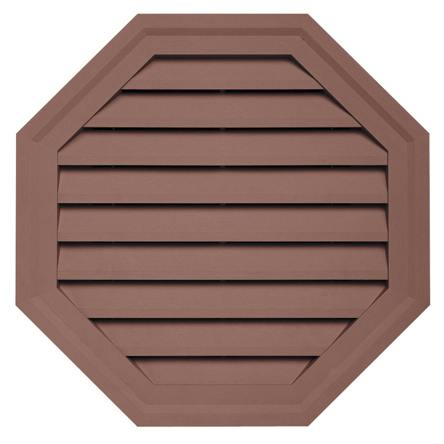 Durabuilt 10.5-in x 15-in Sedona Red/Pebble Octagon Plastic Gable Vent