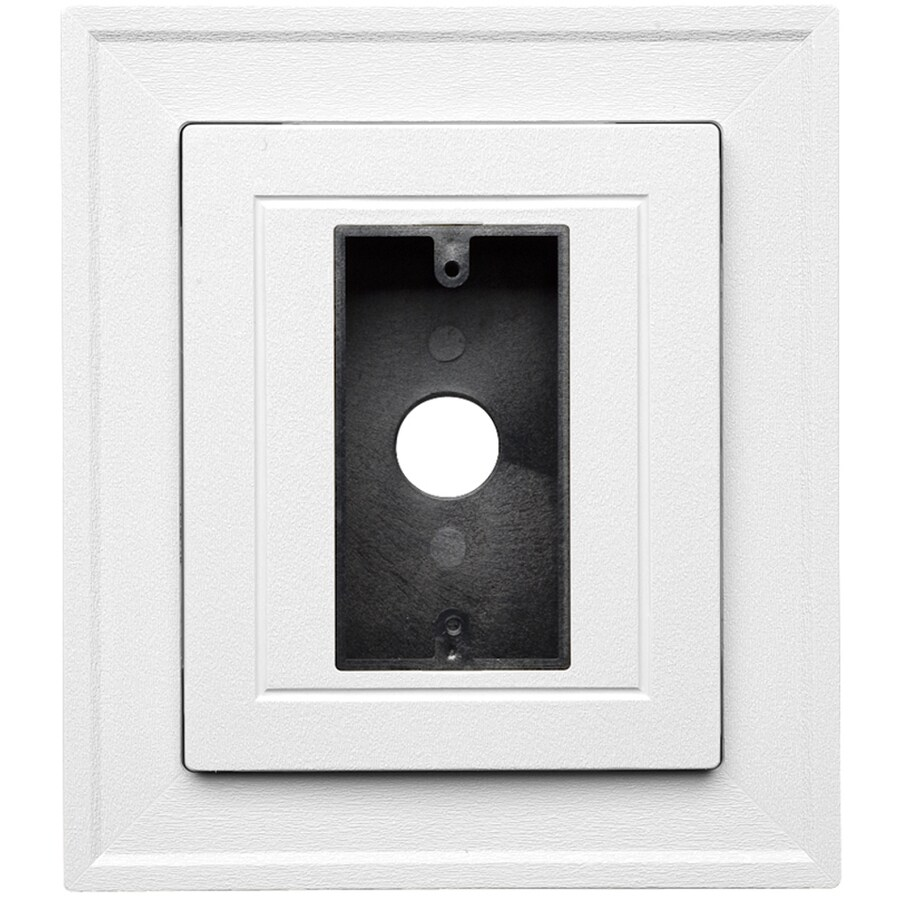 Durabuilt 8.5-in x 7.5-in White/Woodgrain Vinyl Electrical Mounting Block