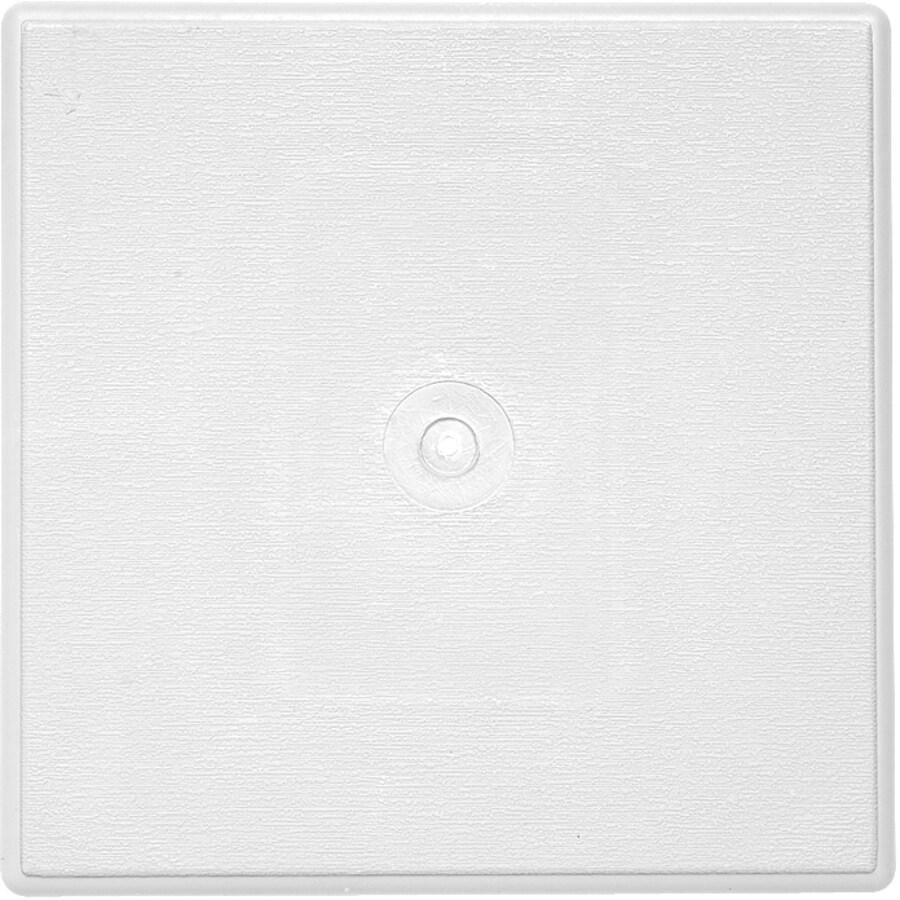 Durabuilt 6.625-in x 6.625-in White/Woodgrain Vinyl Universal Mounting Block