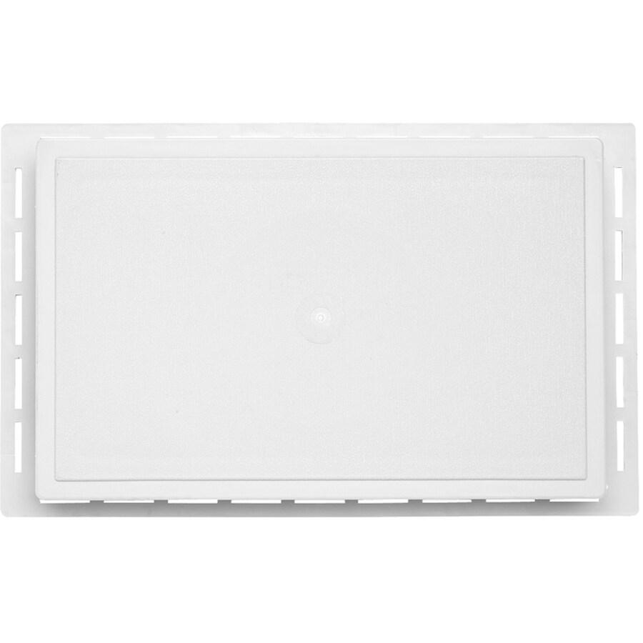 Durabuilt 12.625-in x 7.875-in White/Woodgrain Vinyl Universal Mounting Block