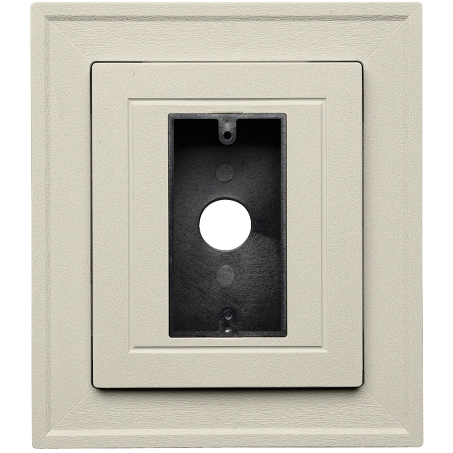Durabuilt 8.5-in x 7.5-in Almond and Woodgrain Vinyl Electrical Mounting Block