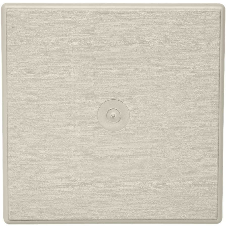 Durabuilt 6.625-in x 6.625-in Almond/Woodgrain Vinyl Universal Mounting Block