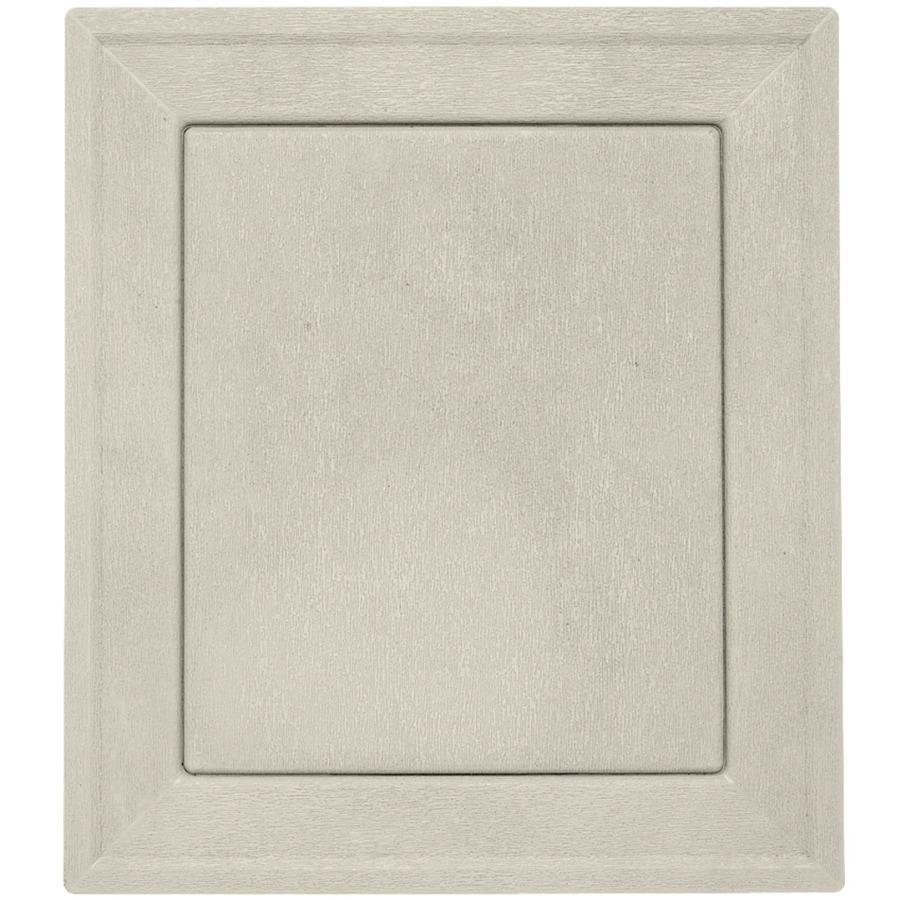 Durabuilt 8.54-in x 7.52-in Almond/Woodgrain Vinyl Universal Mounting Block