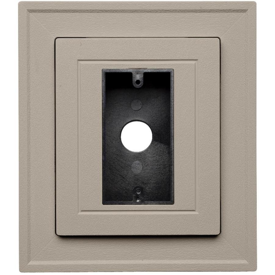 Durabuilt 8.5-in x 7.5-in Clay/Woodgrain Vinyl Electrical Mounting Block