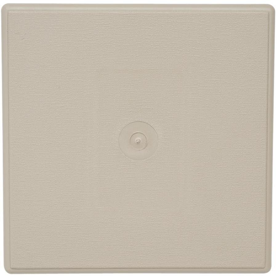 Durabuilt 6.625-in x 6.625-in Clay/Woodgrain Vinyl Universal Mounting Block