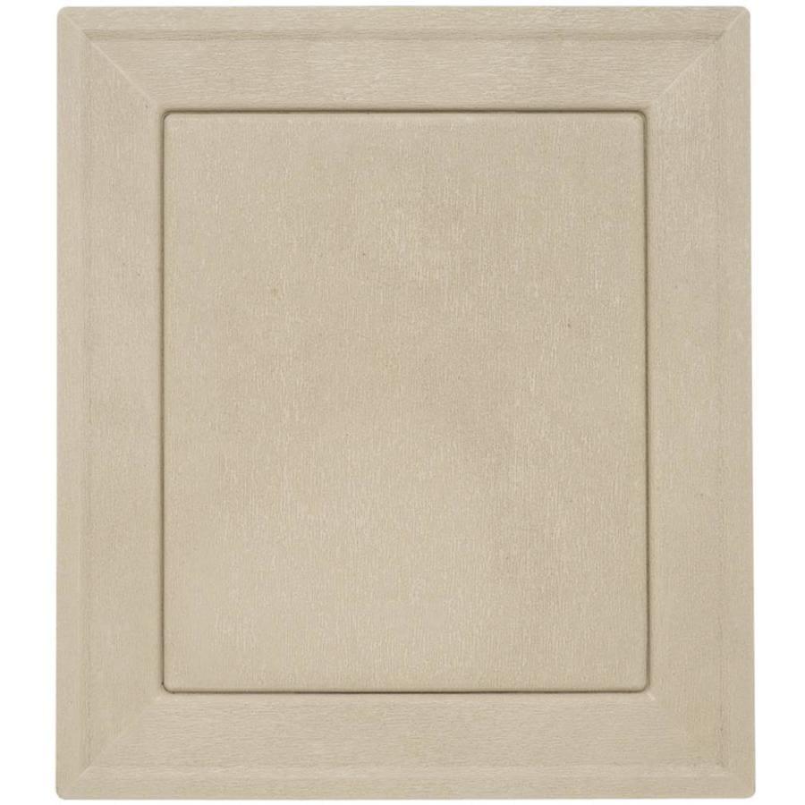 Durabuilt 8.54-in x 7.52-in Clay/Woodgrain Vinyl Universal Mounting Block