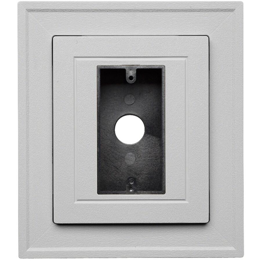 Durabuilt 8.5-in x 7.5-in Gray/Woodgrain Vinyl Electrical Mounting Block