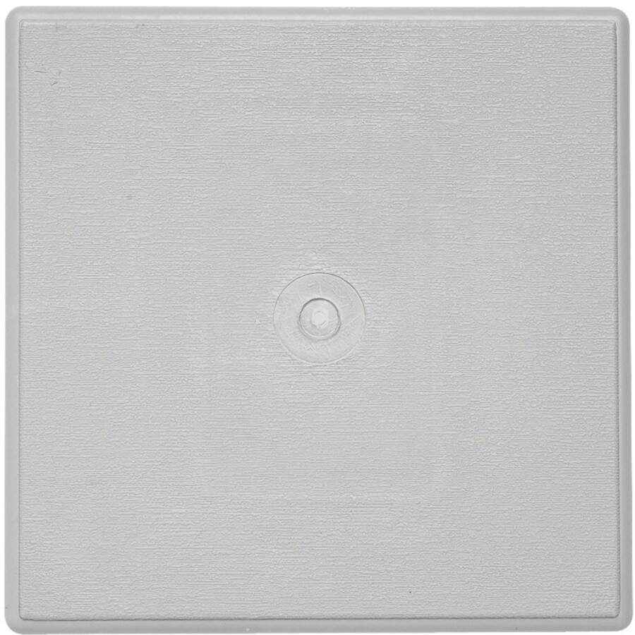 Durabuilt 6.625-in x 6.625-in Gray/Woodgrain Vinyl Universal Mounting Block