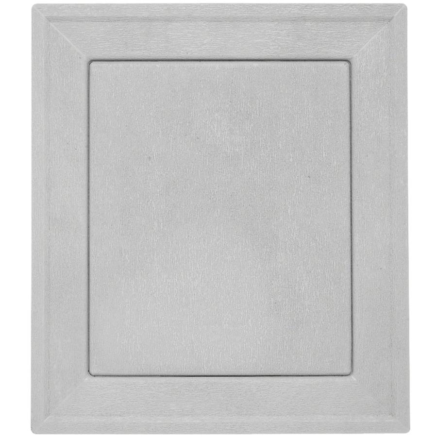 Durabuilt 8.54-in x 7.52-in Gray/Woodgrain Vinyl Universal Mounting Block