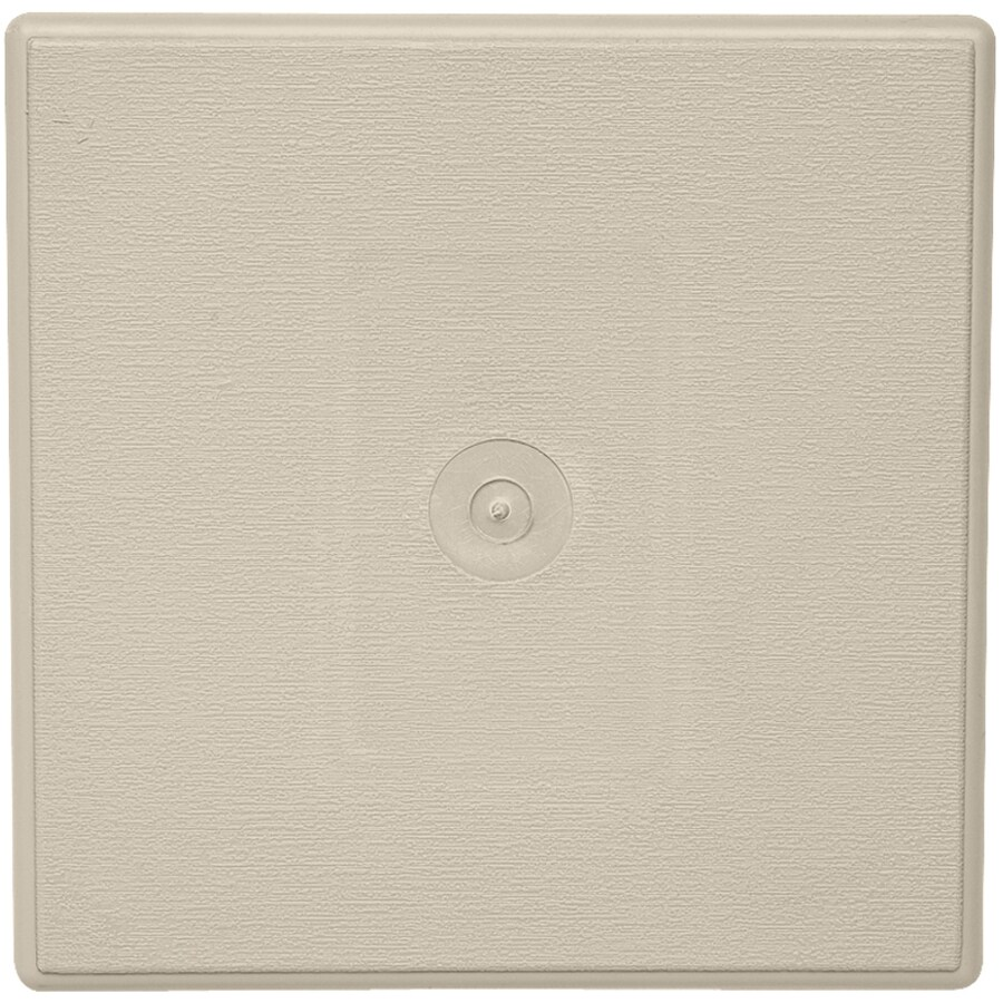Durabuilt 7.5-in x 8.5-in Tan/Woodgrain Vinyl Universal Mounting Block