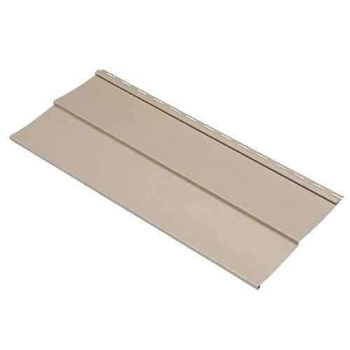 Durabuilt 440 Vinyl Siding Sample Double 5 Traditional Tan At Lowes Com