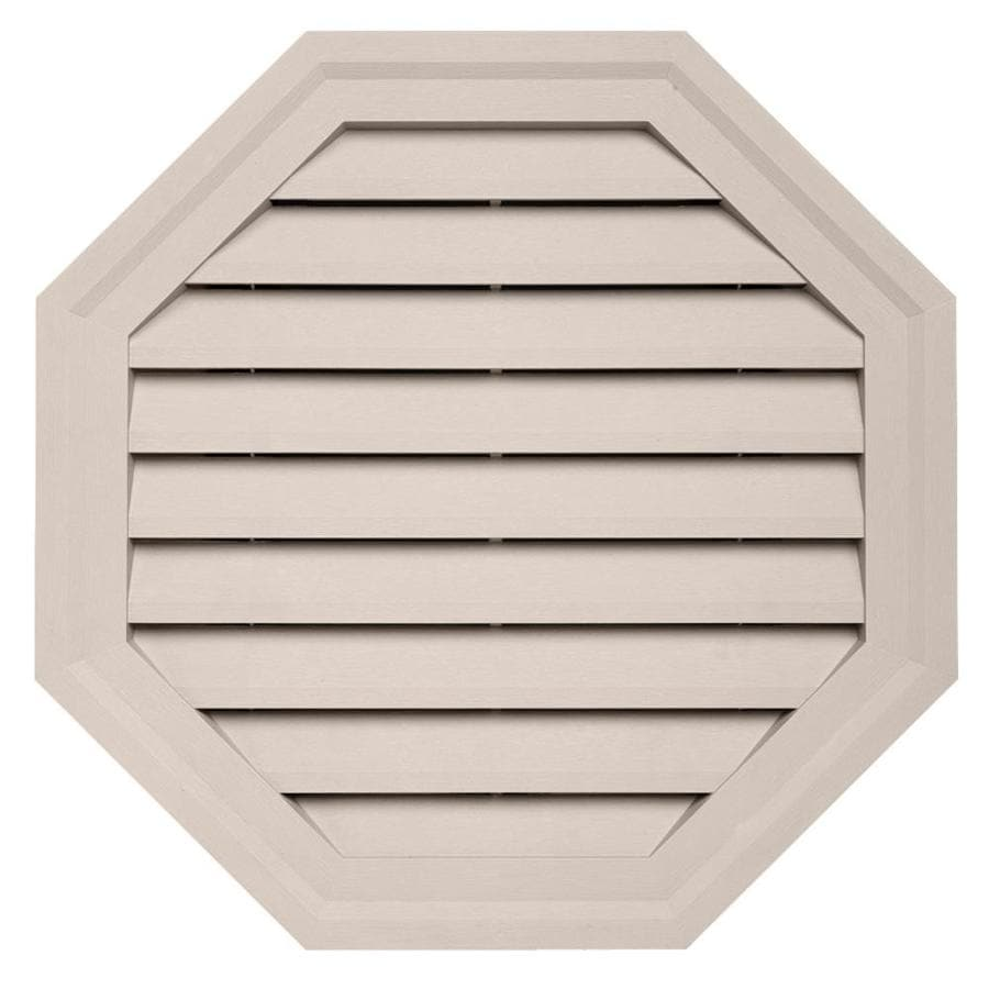 Durabuilt 22-in x 22-in Beige/Pebble Octagon Plastic Gable Vent
