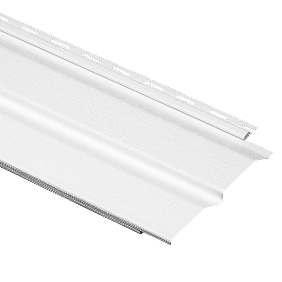 Durabuilt 440 Vinyl Siding Panel Double 4 Dutch Lap White 8-in x 150-in
