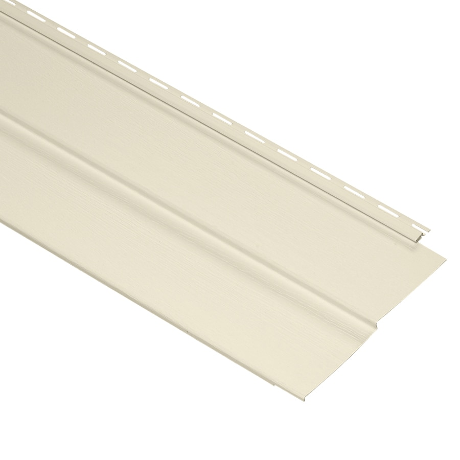 Durabuilt Traditional Cream Vinyl Siding Panel 10-in x 144-in