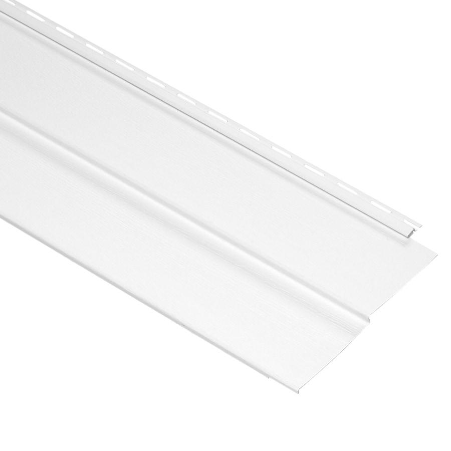 Durabuilt 440 Vinyl Siding Panel Double 5 Dutch Lap White 10-in x 144-in