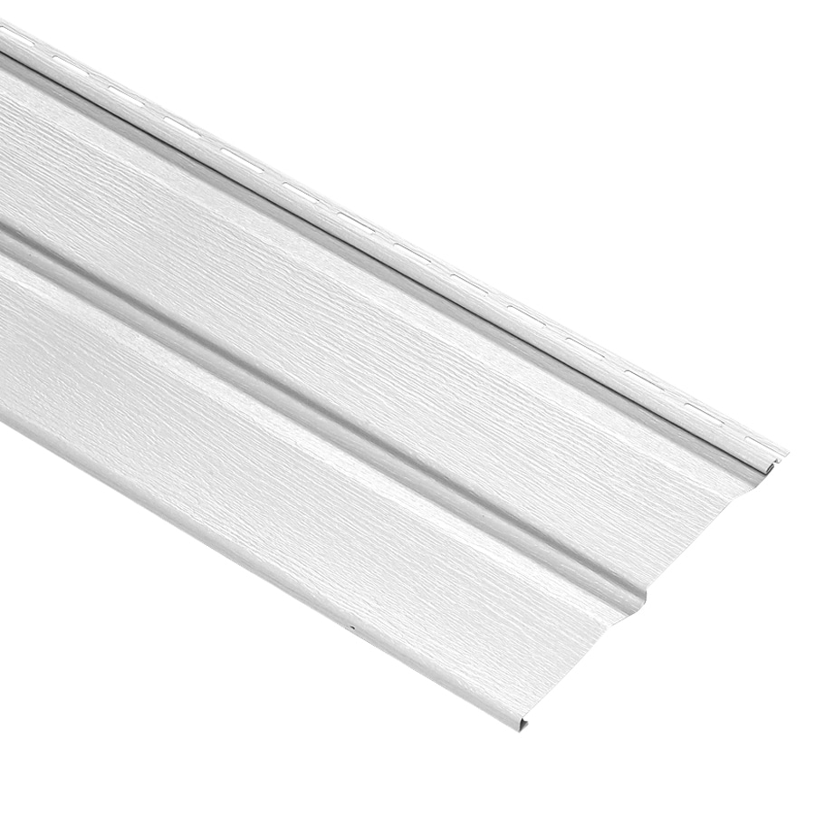 Durabuilt 440 Vinyl Siding Panel Double 5 Dutch Lap White 10-in x 144-in