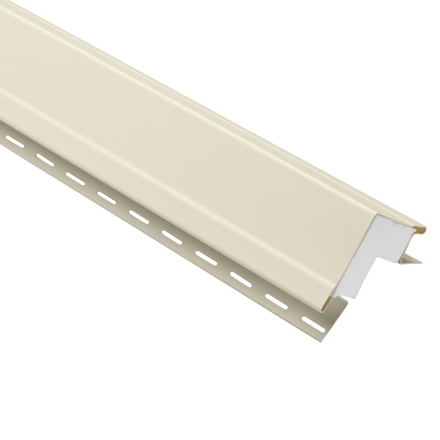 Durabuilt 4-in x 144-in Cream Outside Corner Post Vinyl Siding Trim